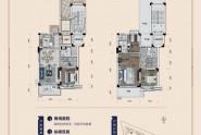 碧桂园凤翔花园叠墅A户型建面179㎡4房2厅3卫