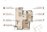 雅居乐都汇雅郡建面约85㎡三房两厅一卫