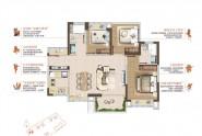 雅居乐都汇雅郡建面约95㎡三房两厅两卫