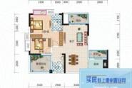 惠州长裕罗浮嘉园1栋05/06户型, 2室2厅2卫1厨, 建筑面积约94.00平米