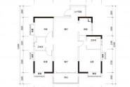 惠州实地常春藤B3户型, 3室2厅2卫1厨, 建筑面积约117.00平米