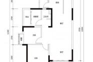 惠州实地常春藤A1户型, 3室2厅1卫1厨, 建筑面积约88.00平米