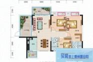 惠州长裕罗浮嘉园2栋1单元06户型, 3室2厅2卫1厨, 建筑面积约99.00平米