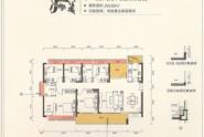 惠州中洲天御F户型,5+1房2厅2卫,169平方