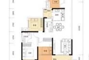 惠州牧云溪谷四期云峯95平户型, 4室2厅2卫1厨, 建筑面积约95.00平米