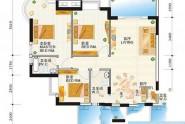 惠州榕城华庭榕城华庭雅美阁05号房户型3室2厅2卫1厨