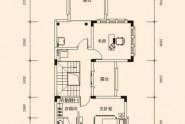 惠州润田双璧湾A户型, 联排别墅, 建筑面积约318.00平米