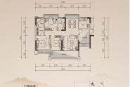 惠州中惠玥园B户型 三房两厅两卫 建面112平米