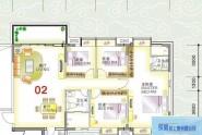 惠州榕城华庭榕城华庭翠业阁02户型4室2厅2卫1厨