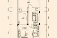 惠州润田双璧湾B户型, 联排别墅, 建筑面积约243.00平米