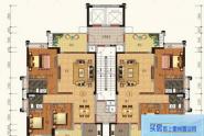 惠州锦绣一品D户型,3房2厅2卫,180平方