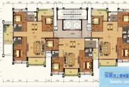 惠州锦绣一品A户型,3房2厅2卫,135平方