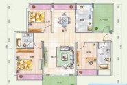 惠州悦玺公馆01户型3+1房2厅2卫 建面约118.69平米