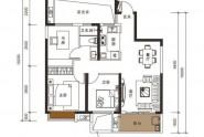 惠州新力帝泊湾01/02户型, 3室2厅1卫1厨, 建筑面积约92.00平米