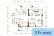 惠州隆生仲恺花园D2户型, 3室2厅2卫1厨, 建筑面积约127.00平米