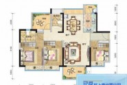 惠州悦璟华庭4栋03户型, 商住, 建筑面积约107.00平米