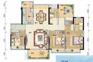 惠州悦璟华庭3栋03、4栋04户型, 商住, 建筑面积约126.00平米