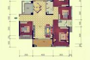 惠州西林美岸户型B 四房二厅二卫