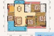惠州百基宸庭04户型建面约117㎡4房2厅2卫