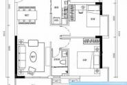 惠州海伦堡海伦虹海伦堡海伦虹1栋01户型77平米2室2厅1卫1厨