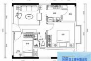 惠州海伦堡海伦虹海伦堡海伦虹1栋07户型55平米2室2厅1卫1厨