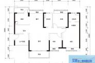 惠州实地常春藤C2户型, 3室2厅2卫1厨, 建筑面积约125.00平米