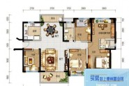 惠州碧桂园翡翠山H户型, 5室2厅2卫1厨, 建筑面积约147.00平米