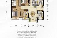 惠州时代倾城D户型118㎡ 3房2厅2卫
