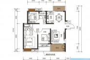 惠州新力帝泊湾03/04户型, 3室2厅2卫1厨, 建筑面积约106.00平米