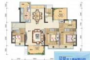 惠州悦璟华庭3栋04户型, 商住, 建筑面积约117.00平米