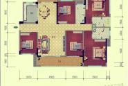 惠州西林美岸户型E 五房二厅三卫