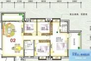 惠州榕城华庭榕城华庭翠乐阁02户型4室2厅2卫1厨
