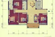 惠州西林美岸户型D 四房二厅二卫