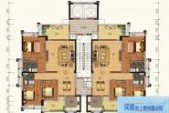 惠州锦绣一品C户型, 3室2厅2卫141平米