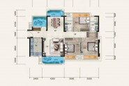 惠州佳兆业时代可园三期D户型 3房2厅2卫